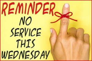No Wednesday Night Ministries