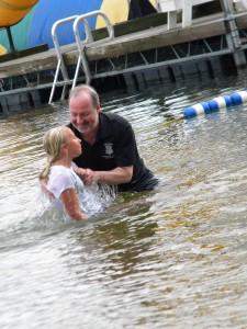 Baptism and Church Picnic at Miracle Camp