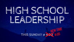 High School Leadership Meeting